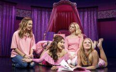 From left: Erika Henningsen (Cady Heron), Ashley Park (Gretchen Wieners), Taylor Louderman (Regina George), and Kate Rockwell (Karen Smith). © Joan Marcus
