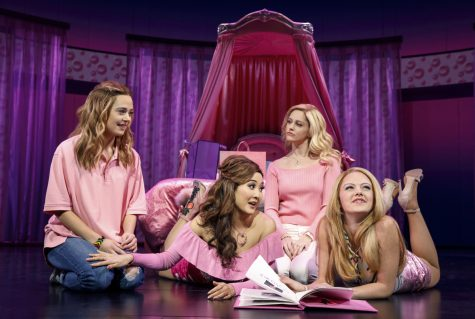 From left: Erika Henningsen (Cady Heron), Ashley Park (Gretchen Wieners), Taylor Louderman (Regina George), and Kate Rockwell (Karen Smith). © Joan Marcus